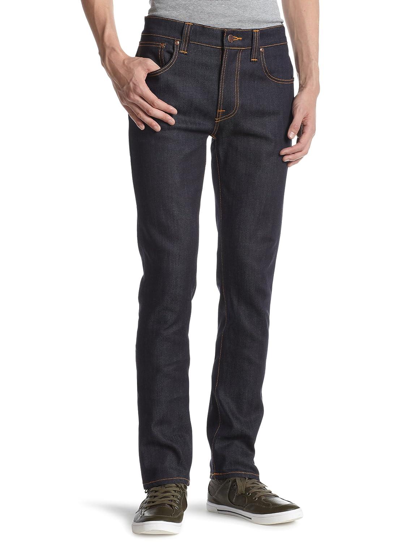 08997c25f3 Nudie Jeans Men s Thin Finn Jean in Dry Ecru Embo at Amazon Men s Clothing  store
