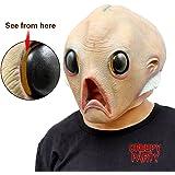 CreepyParty Deluxe Halloween Alien Latex Head Mask