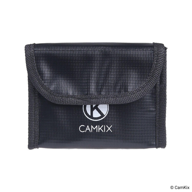 Carga y Transporte Camkix/® Bolsa de bater/ía LiPo a Prueba de explosiones Compatible con dji Mavic Air hasta 3 bater/ías Seguridad y Almacenamiento Resistente al Fuego