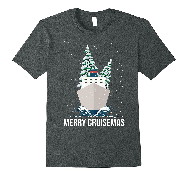 Merry Cruisemas Christmas Cruise Caribbean Bahamas T-Shirt-ln