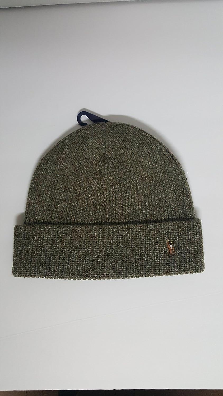 b0f175600d4 Polo Ralph Lauren Signature Merino Cuff Hat Men s One Size  Amazon.co.uk   Clothing