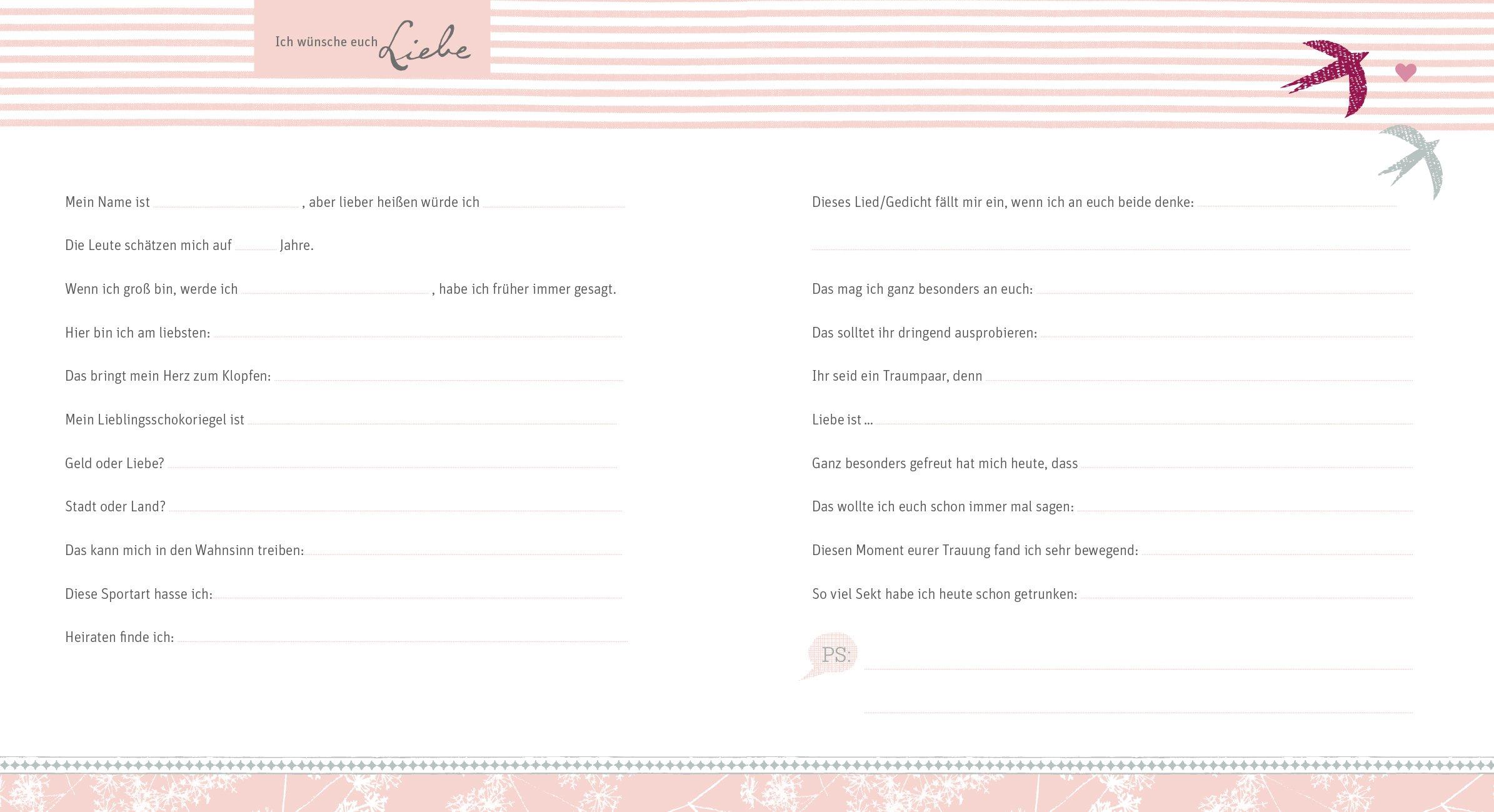 Unsere Wünsche zu Eurer Hochzeit Gästebuch Amazon Christina