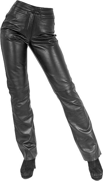 Echt Lamm Nappa Leder Damen Lederhose LOW CUT von Ricano schwarz