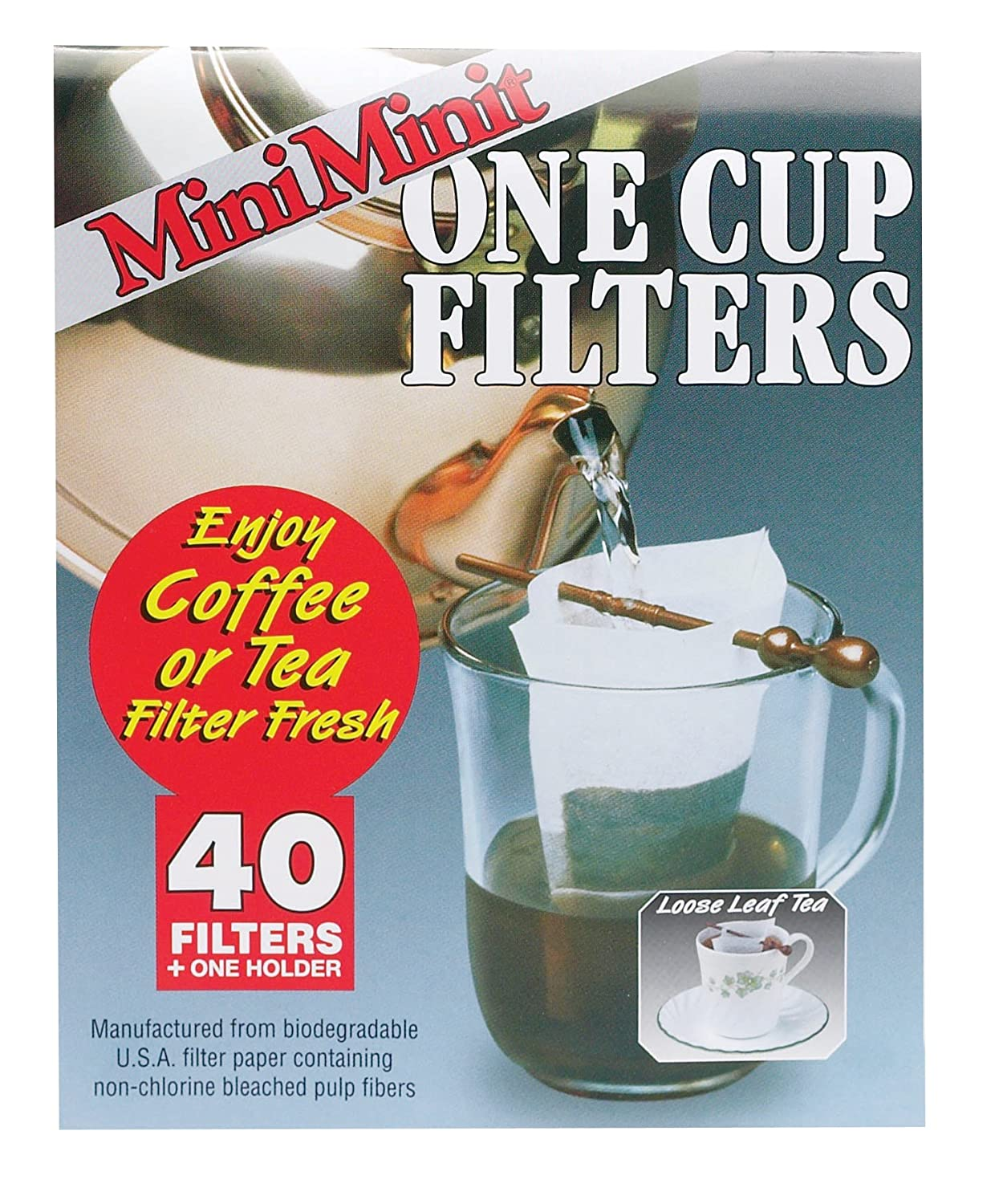 Harold Import 8700 Mini Minit One Cup Filter, 40 Filter