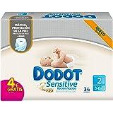 Dodot Sensitive - Pañales para bebé, talla 2 - 1 paquete x 34 Pañales