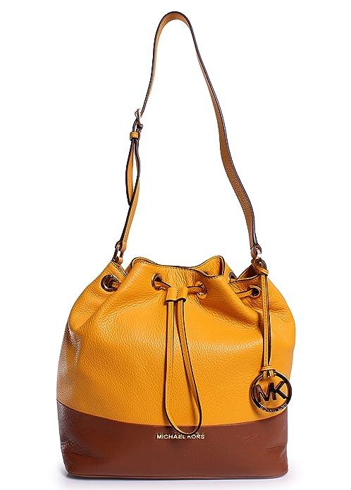 5cd3173e04 MICHAEL Michael Kors Jules Large Drawstring Shoulder Bag Sun Luggage   Handbags  Amazon.com