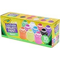 CRAYOLA Washable Kid's Neon Paint Set, 2-Ounce