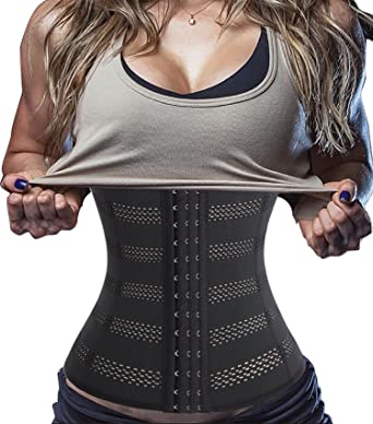 d846bfd4c Chumian Adjustable Waist Trainer Corset Girdle Invisible Body Shapewear  Tummy Control Workout Sport (S(