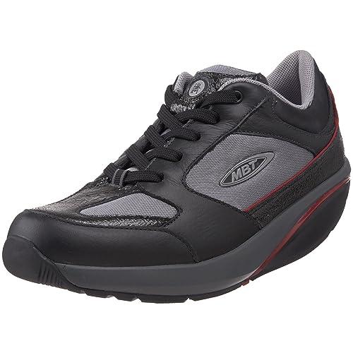 a07116827a2b MBT Moja Lux Shoe Multicolour Size  4 UK Black Grey Red  Amazon.co ...