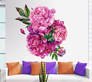 5ab337e08 Image Unavailable. Image not available for. Colour  Happy Walls Rose Bunch Wall  Sticker