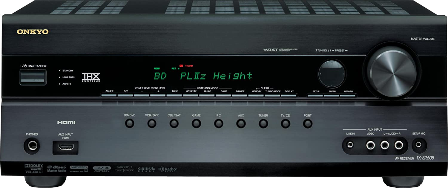 Onkyo TX-SR608 7 2-Channel Home Theater Receiver (Black) (Discontinued by  Manufacturer)
