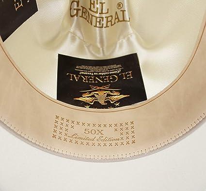 a27c194d2a8 Amazon.com  El General Men s Cowboy Hat Texana 50X Horma Julion Color White  Wool  Clothing