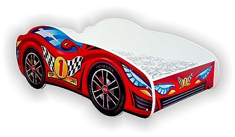 Letto A Forma Di Auto Da Corsa : Auto da corsa letto singolo junior per bambino a forma di auto