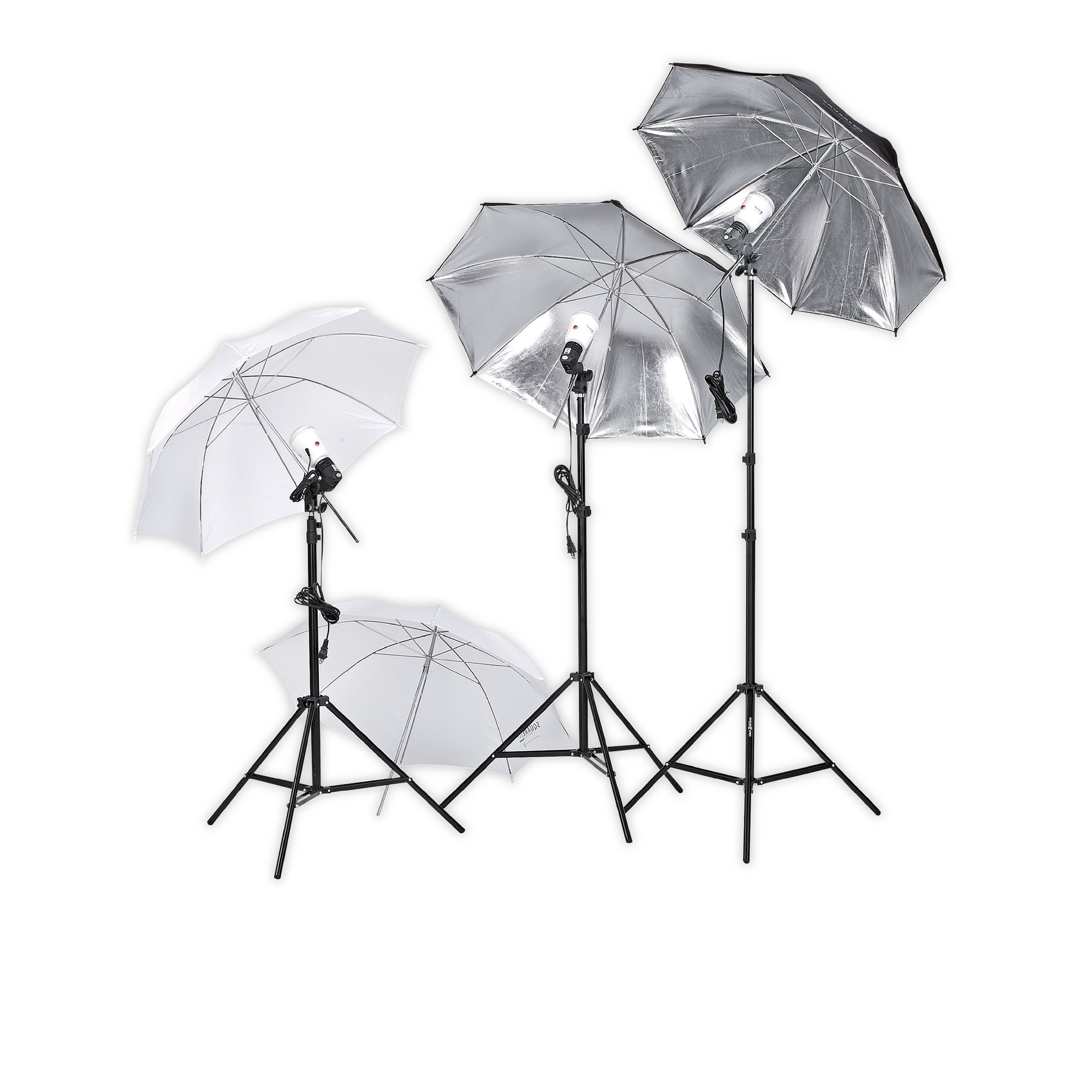 4500 Square Perfect Professional Quality Photography Studio Lighting Umbrella Soft Light Kit by SQUARE PERFECT