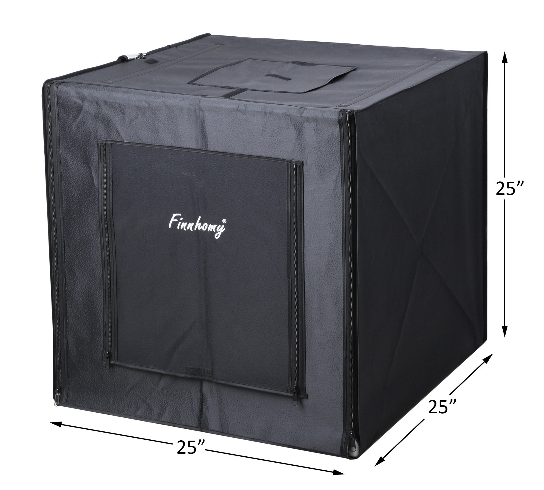 Finnhomy Professional Portable Photo Studio Photo Light Studio Photo Tent Light Box Table Top Photography Shooting Tent Box Lighting Kit, 24'' x 24'' Cube by Finnhomy (Image #6)