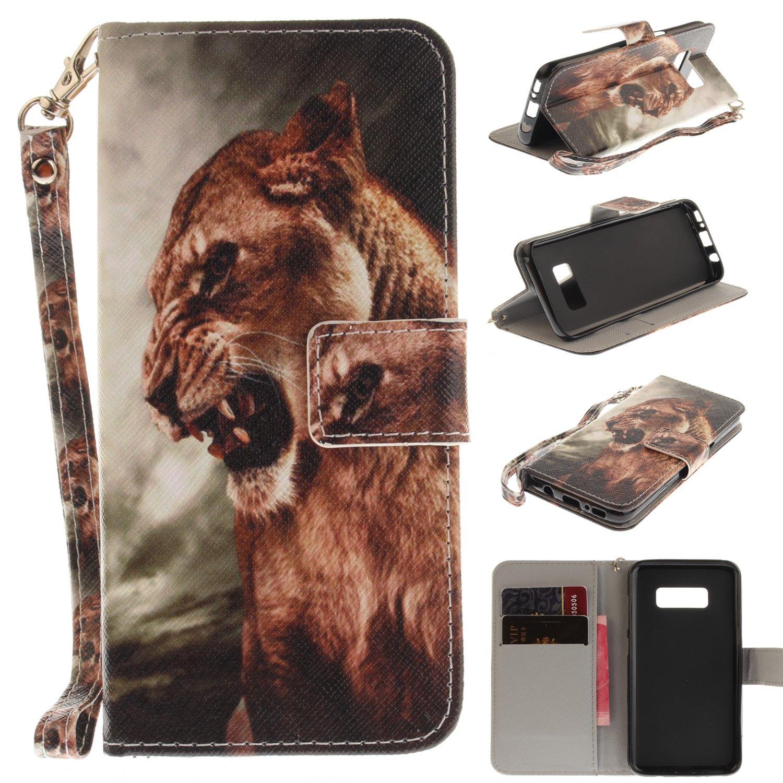 BONROY Coque Samsung Galaxy S8 Plus Housse en Cuir Premium Flip Case Portefeuille Etui pour Samsung Galaxy S8 Plus-Dont Touch me
