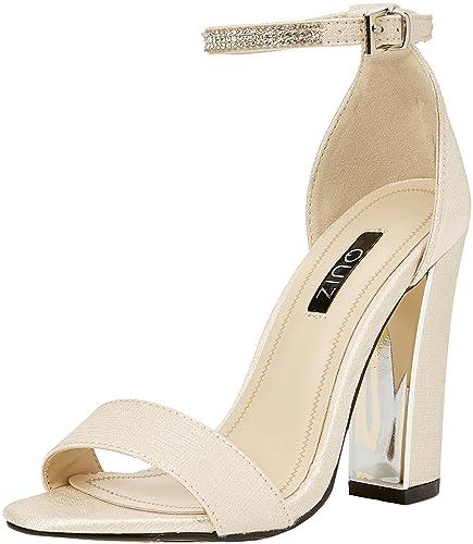 c04e4cb43b0 Quiz Women s Diamante Ankle Sandals Open Toe Heels  Amazon.co.uk ...