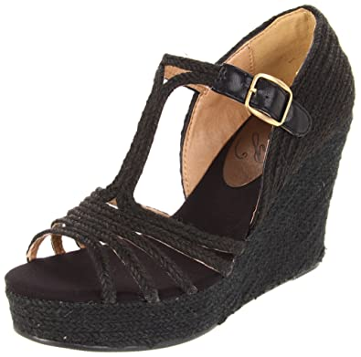 20ef70dfb0 Amazon.com   Envy Women's Grub, Black 10 M US   Platforms & Wedges