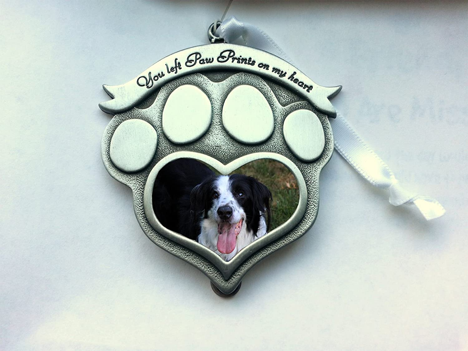 Pet Memorial Photo Frame Ornament You Left Paw Prints on My Heart
