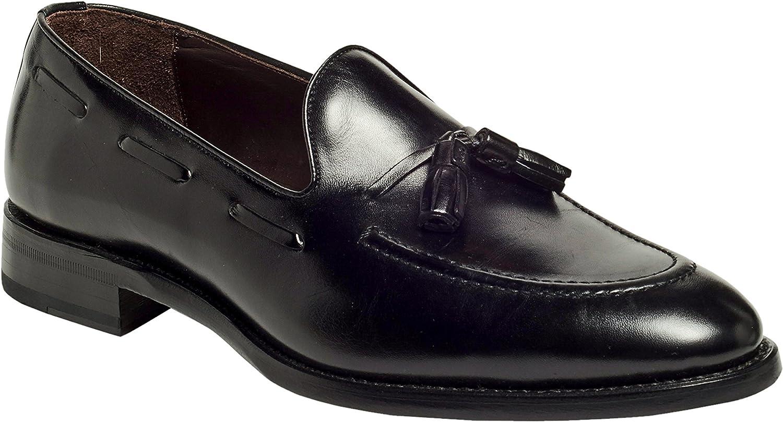 Anthony Veer Mens Philly Tassel Loafer Office Formal Wedding Dress Shoe French Calf Leather Goodyear Welt Full Grain