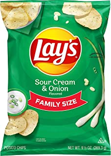 product image for Lay's Potato Chips, Sour Cream and Onion, 9.5 Ounce