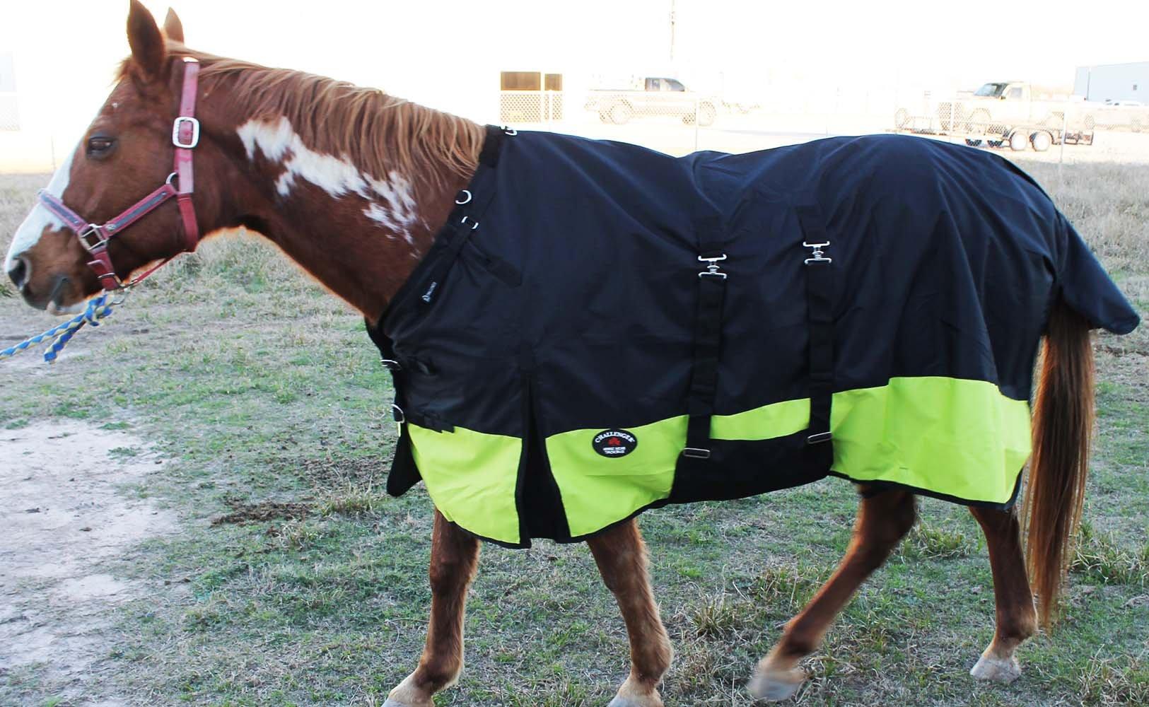 CHALLENGER 68'' 1200D Turnout Rain Horse Sheet Light Winter Blanket 344B by CHALLENGER