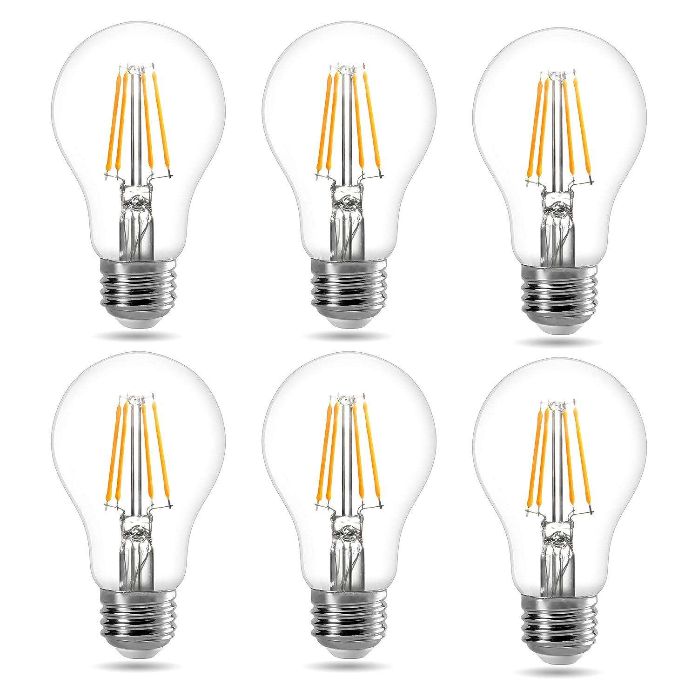 Lighting EVER Le Regulable A19 LED Bombillas, Bombillas ...