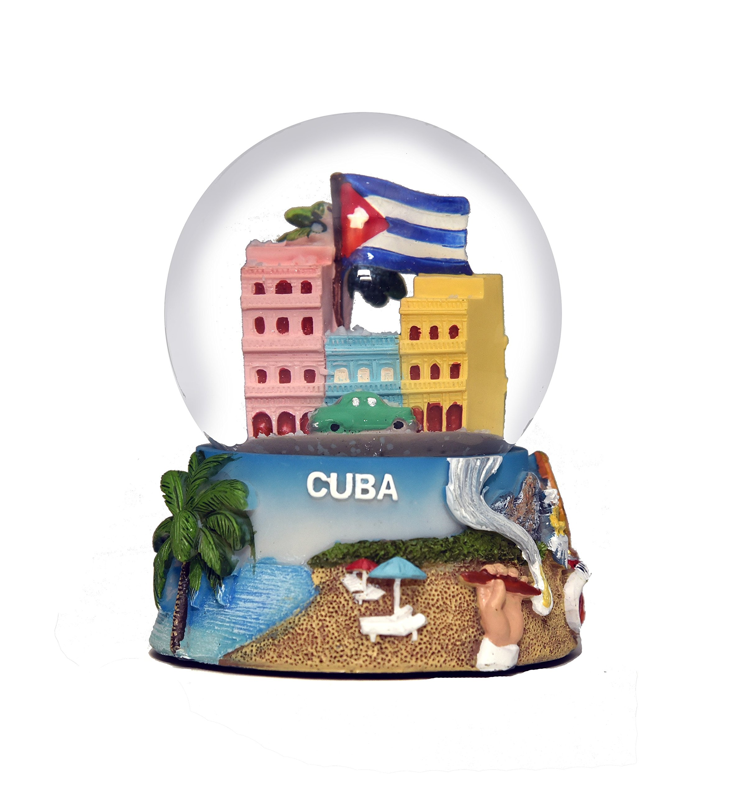 Havana Cuba Colorful Snow Globe 65mm Exclusive