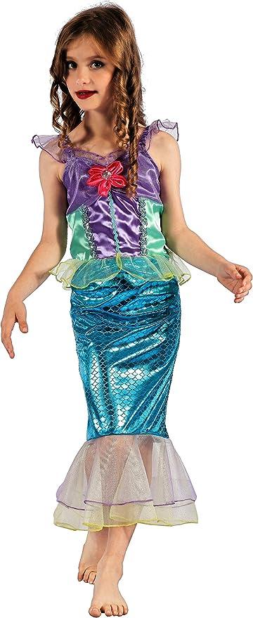 Magi Coo Parejita de Sirena Disfraz Infantil niña tamaños 110 ...