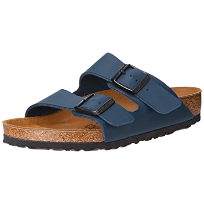 Birkenstock Unisex Arizona Soft Footbed Suede Sandals, Blue - 37 M EU / 6-6.5 B(M) US | Slides