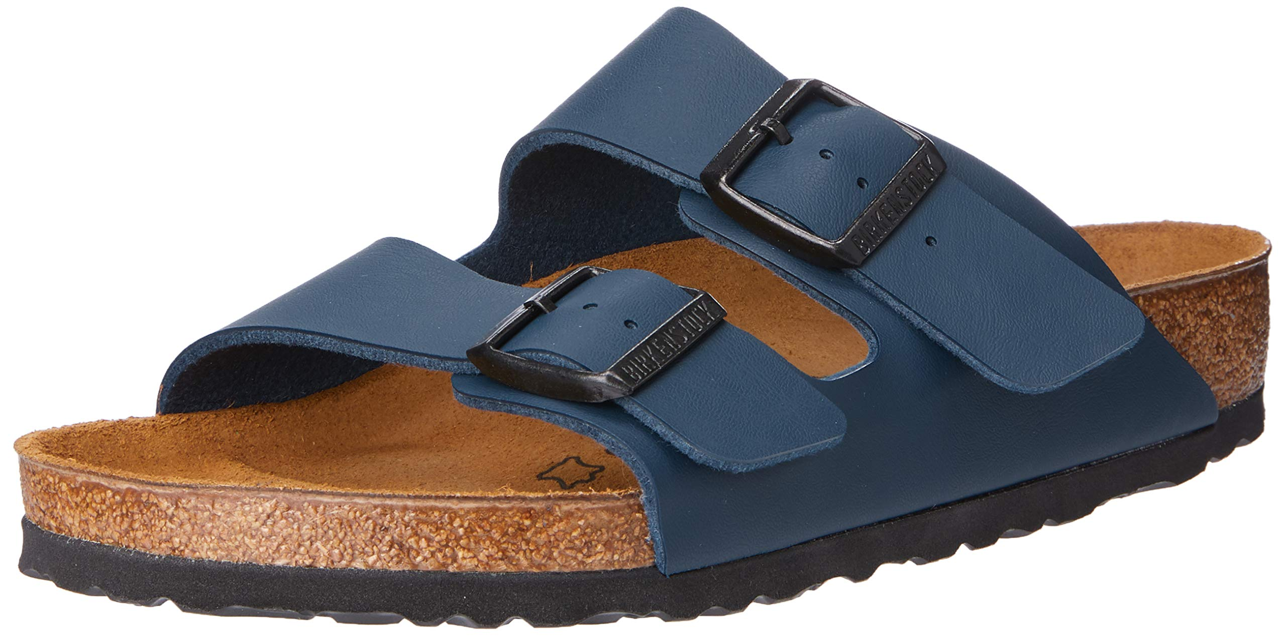 Birkenstock Unisex Arizona Blue Birko Flor Sandals - 8-8.5 B(M) US Women by Birkenstock