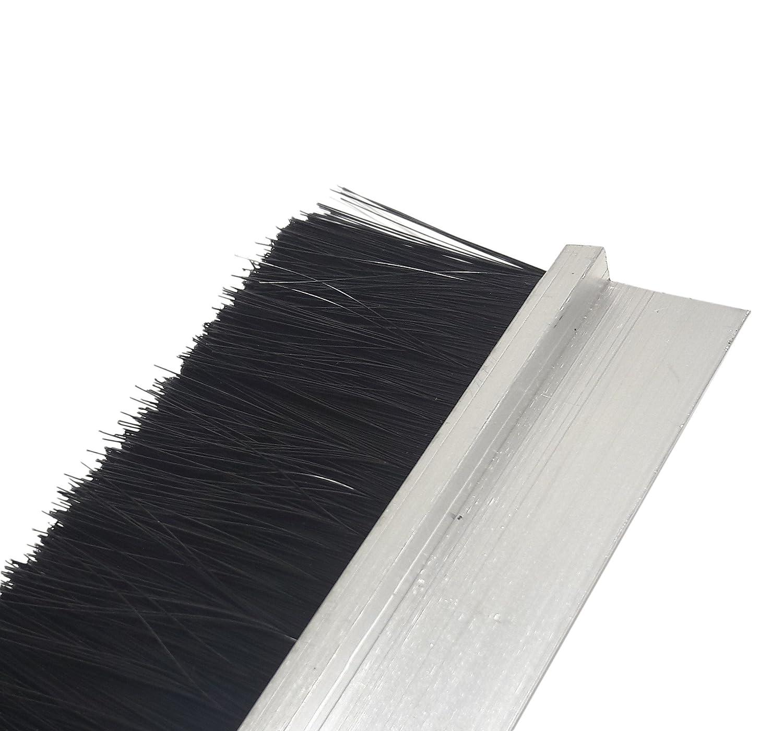 portes et beaucoup plus 100 cm Joint /à brosse en aluminium de profil H pour bacs /à rideaux