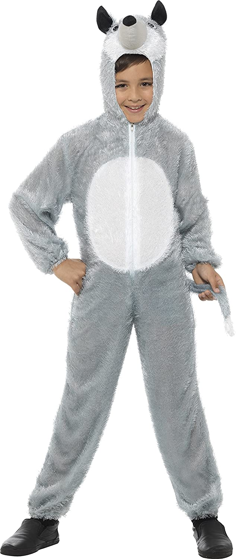 Smiffys Disfraz de lobo, Gris, con traje entero con capucha: Smiffys: Amazon.es: Juguetes y juegos