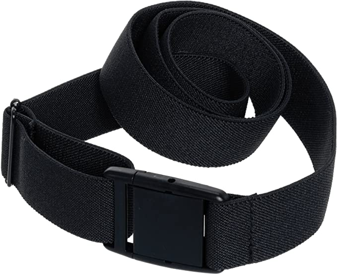 388ae45a1 Womens Invisible Belt - Elastic Adjustable No Show Web Belt by Silver Lilly  (Black