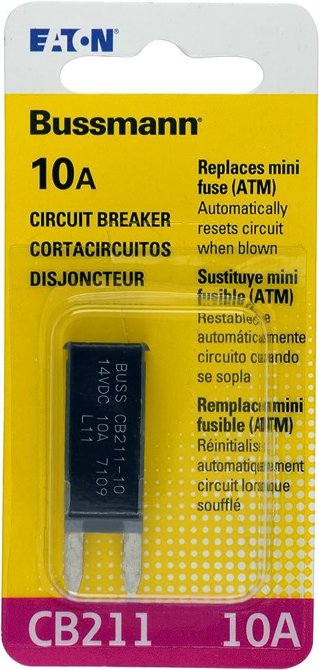 10A EATON Bussmann 121B10-A2P-KA Shortstop Circuit Breaker 2 pcs Type I Reset