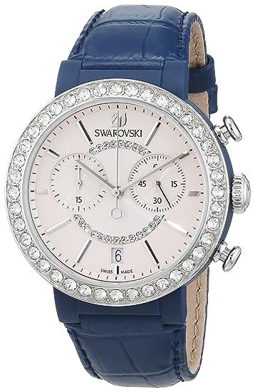 Swarovski Reloj analogico para Mujer de Cuarzo con Correa en Piel 5210208: Amazon.es: Relojes