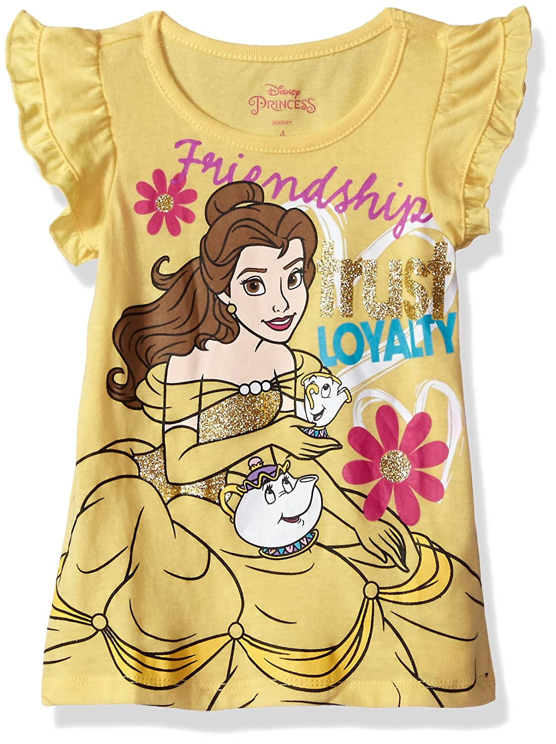 8ae92205f Amazon.com: Disney Girls' Toddler Belle Beauty and The Beast T-Shirt,  Yellow 2t: Clothing