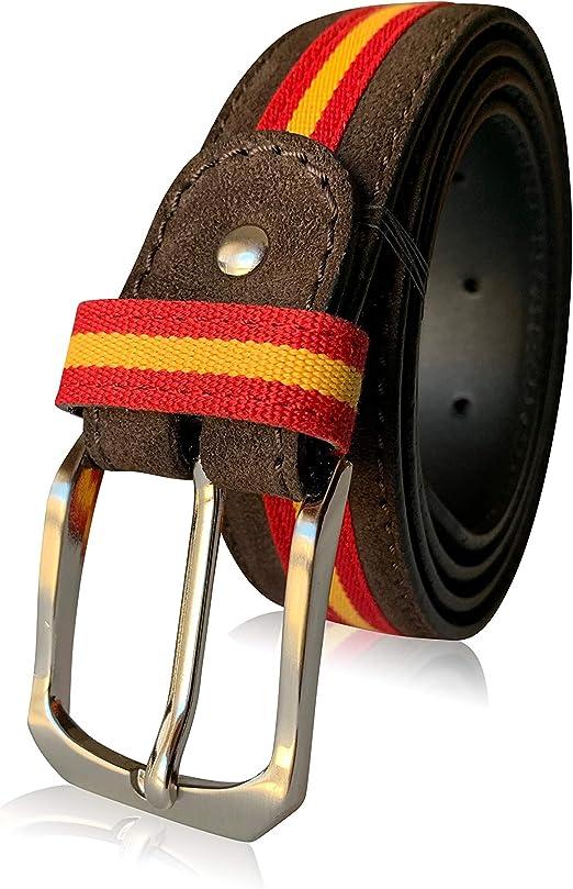 LEGADO Cinturón Hombre piel de cuero serraje marrón tira FINA ...