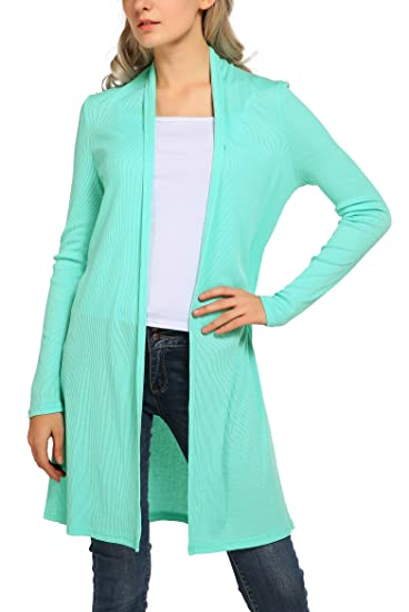 1234d2a43efad Urban CoCo Women s Classic Open Front Long Sleeve Solid Cardigan (S ...