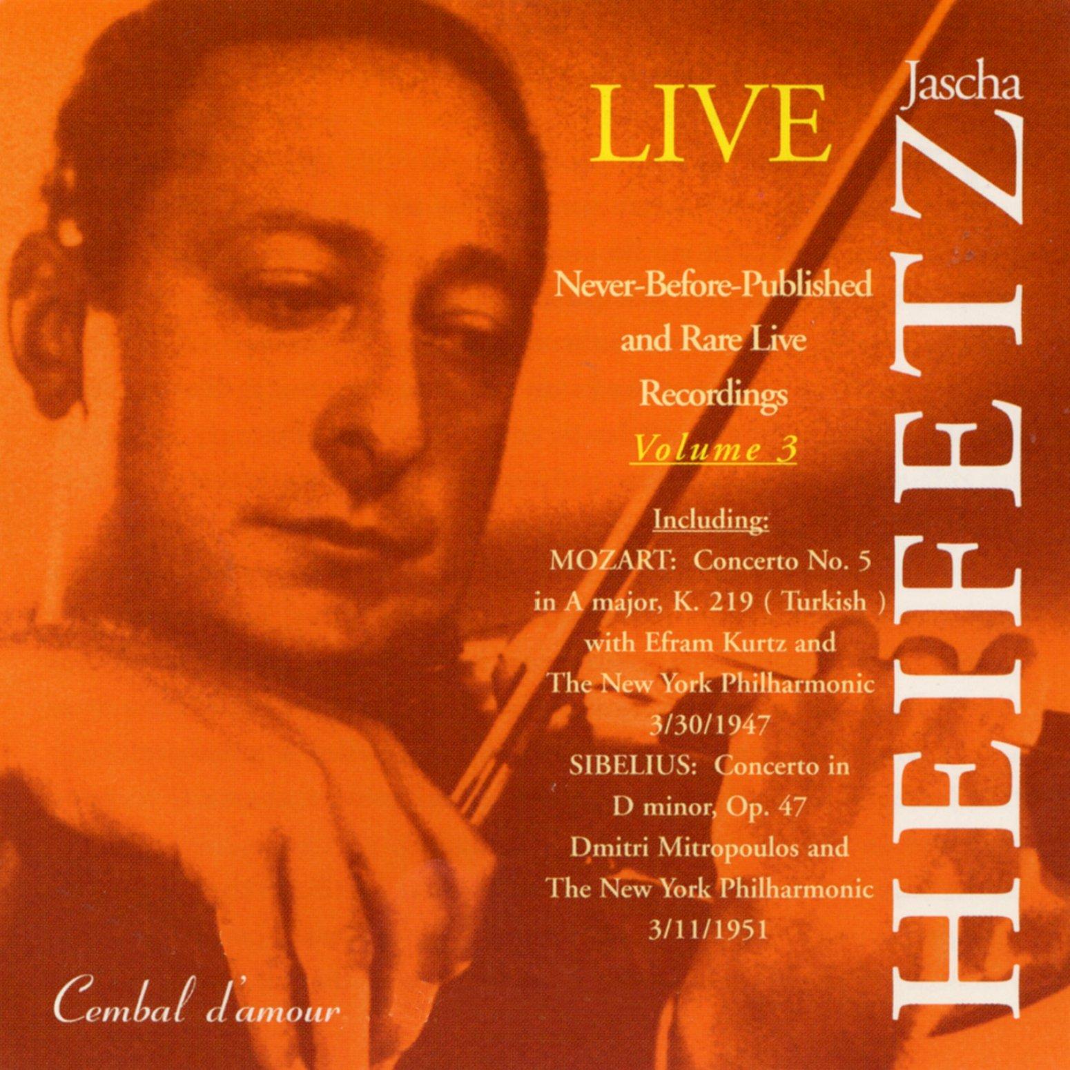 Jascha Heifetz Live, Vol. 3