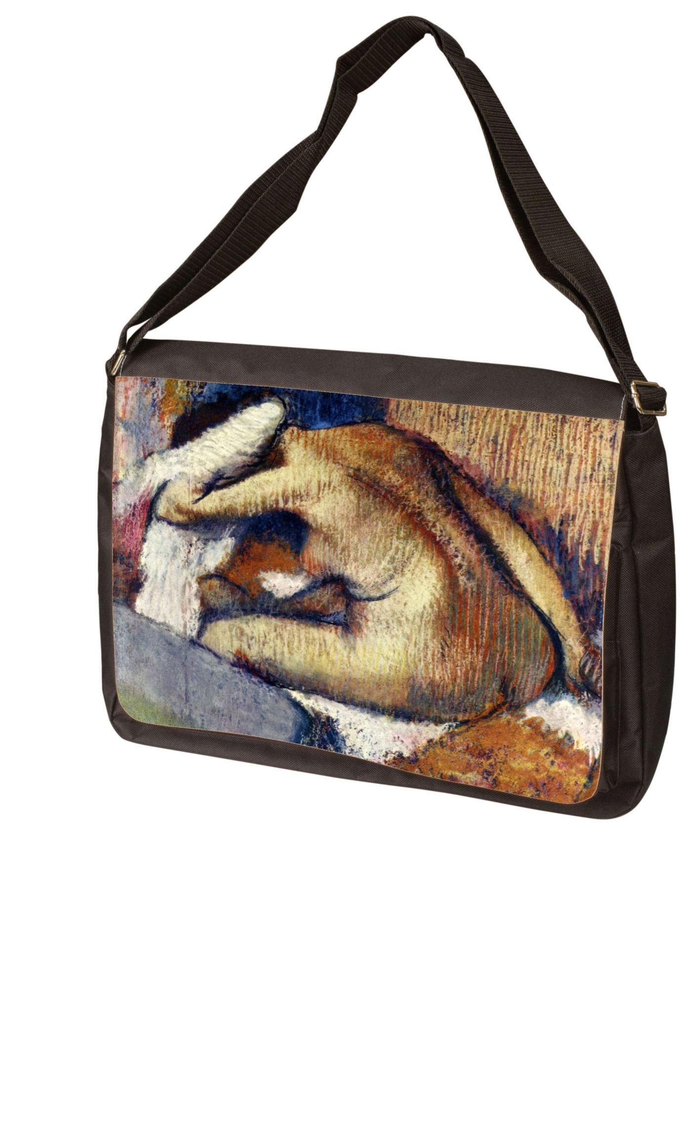 Woman drying hair By Edgar Degas Laptop Bag - Shoulder Bag - Messenger Bag