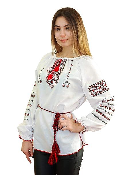 Amazon.com: Blusa de algodón natural con bordado de estilo ...