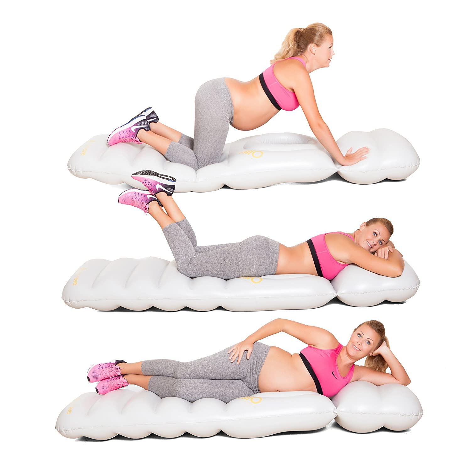 JlllO - The Inflatable Full Body Maternity Pillow with a Hole for Baby Bumps to Lie on Your Tummy During Pregnancy Stylish Eve