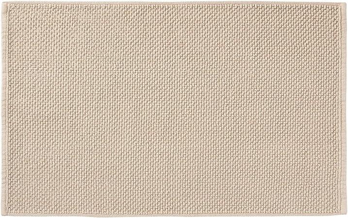 Muji - Alfombrilla de baño (algodón, 36 x 60 cm), Color Beige: Amazon.es: Hogar
