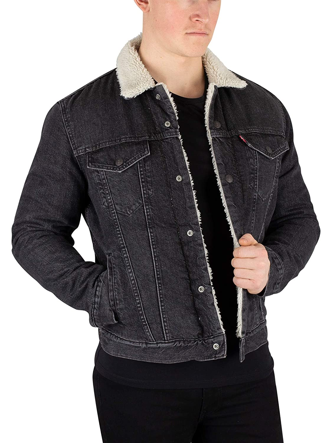5779526ee60 Levis mens type fegin sherpa trucker jacket grey at amazon mens clothing  store jpg 1125x1500 Levis