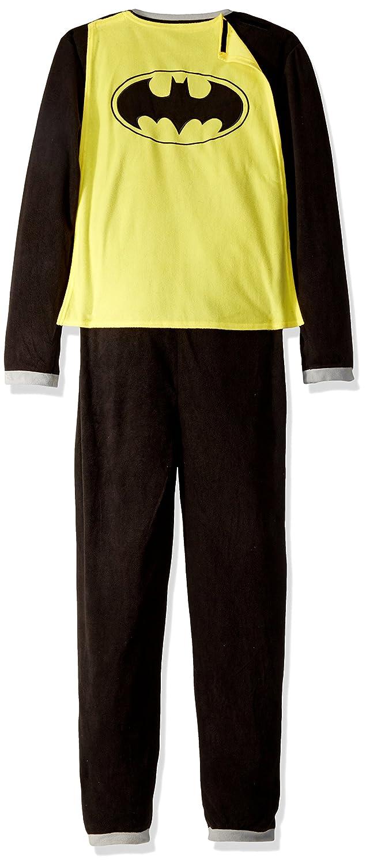 Batman Black Union Suit Mens Caped Pajamas Costume