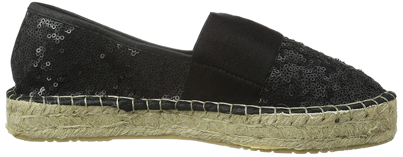 La La La Strada schwarz Sequins Espadrille Damen Espadrilles Schwarz (4201 - Sequins schwarz) 438de0