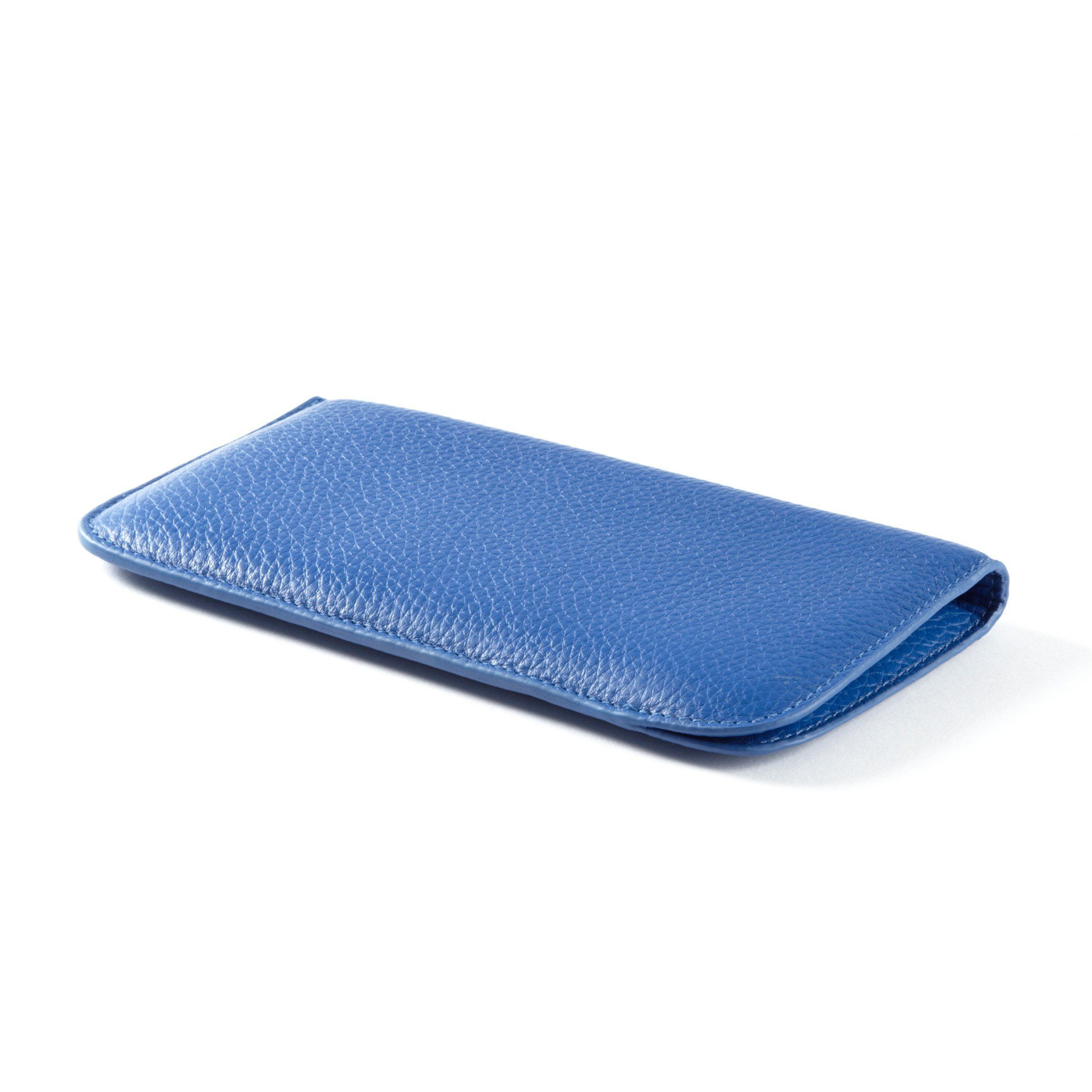 Soft Eyeglass Case - Full Grain Leather - Cobalt (blue)