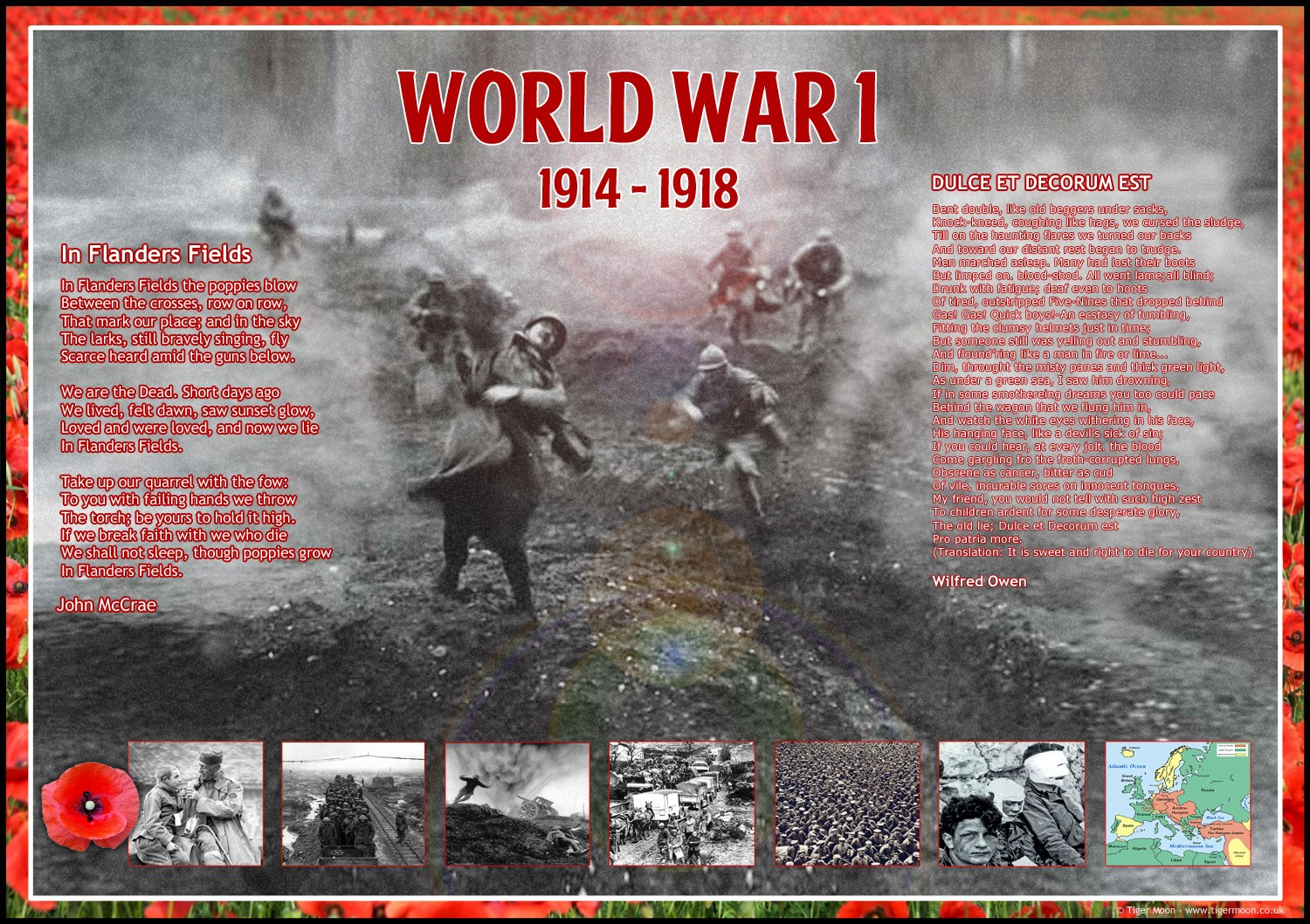World History Classroom Decorations : World war i ww wwi history poems poster a paper laminated