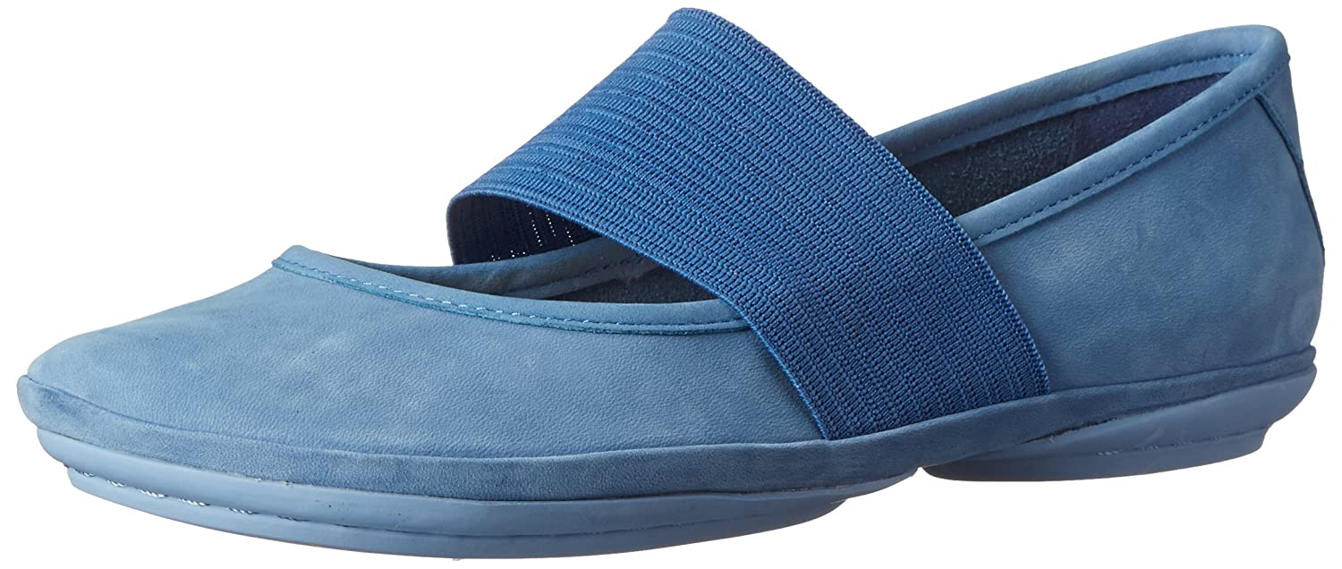 Camper Women's Right Nina Ballet Flat B00M3IV54M 36 M EU / 6 B(M) US|Medium Blue